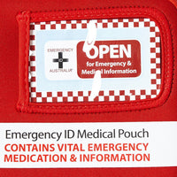 Medical Emergency ID Pouch - Red - Medium - Brenniston