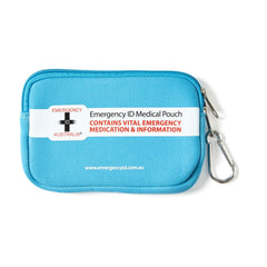 Medical Emergency ID Pouch - Blue - Small