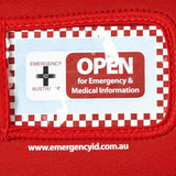 Medical Emergency ID Pouch - Red - Small