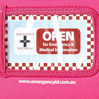 Medical Emergency ID Pouch - Pink - Small