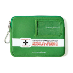 Medical Emergency ID Pouch - Green - Medium