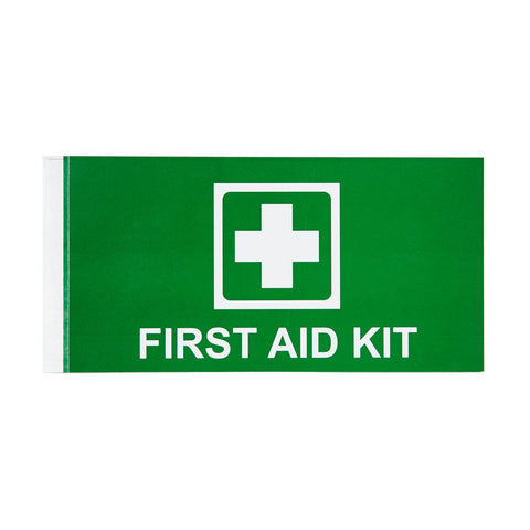 First Aid Kit Sticker with Cross 14.7cm x 7.5cm