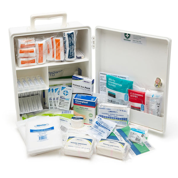 Brenniston National Standard Medium Risk Workplace First Aid Kit Plastic Cabinet