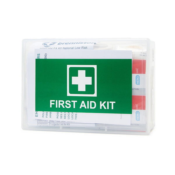 Brenniston Low Risk Workplace First Aid Kit Clear Box