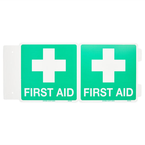 First Aid Sign Poly Off-Wall 225mmx 225mm - Brenniston