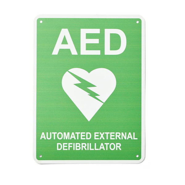 Defibrillator (AED) Sign Flat Poly 300mm x 225mm - Brenniston