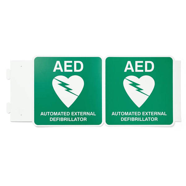 Defibrillator (AED) Sign Off-Wall Poly 225mm x 225mm - Brenniston