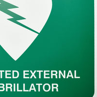 Defibrillator (AED) Sign Off Wall