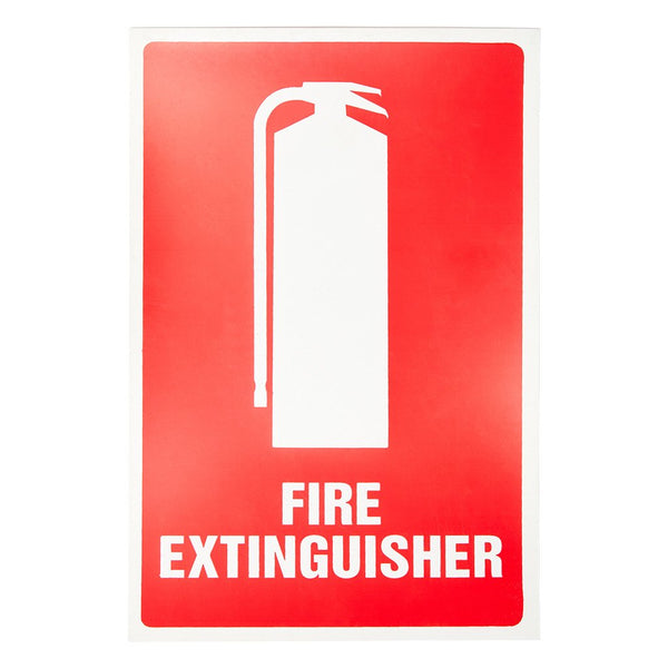 Fire Extinguisher Sign Flat Poly 225mm x 150mm - Brenniston