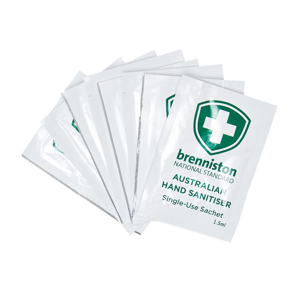 Brenniston National Standard Australian Hand Sanitiser Sachet 1.5ml (10) - Brenniston