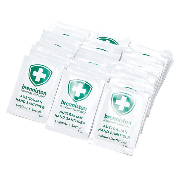 Brenniston National Standard Australian Hand Sanitiser Sachet 1.5ml (150)