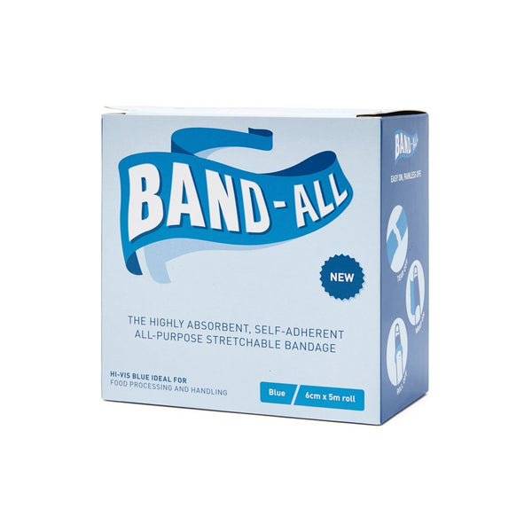 Band-All Cohesive Bandage Blue 6cm