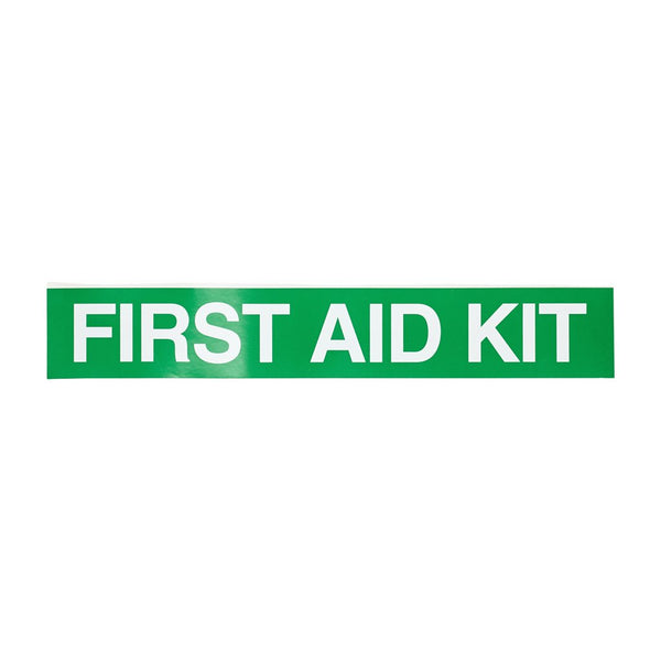 First Aid Sticker 25cm x 4cm - Brenniston