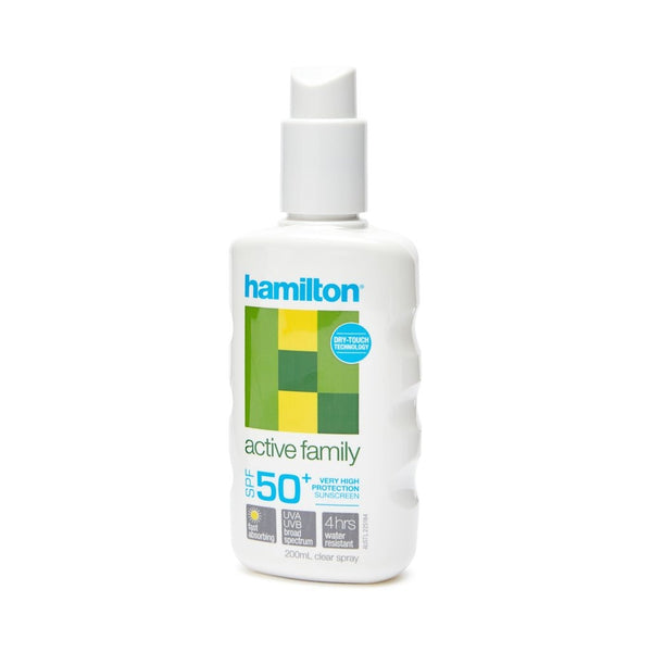 Hamilton Sunscreen 50+ 200ml Spray