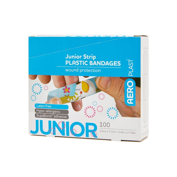 Plastic Dressing Strips Junior Latex Free 7.2cm x 1.9cm (100)