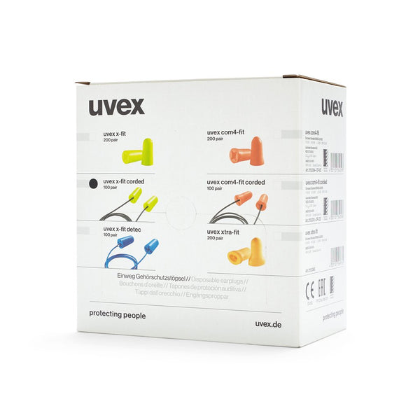 Ear Plug Uvex X-Fit Corded (100 pr) - Brenniston