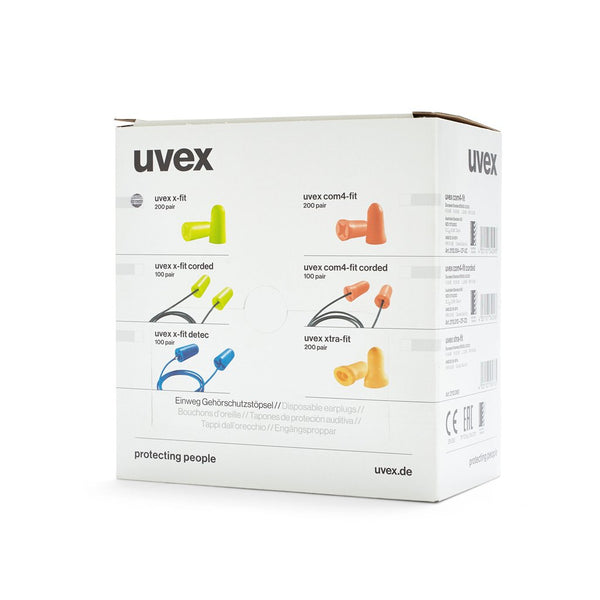 Ear Plug Uvex X-Fit Uncorded (200 pr) 26dB - Brenniston