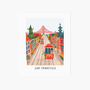 San Francisco Travel Art Print