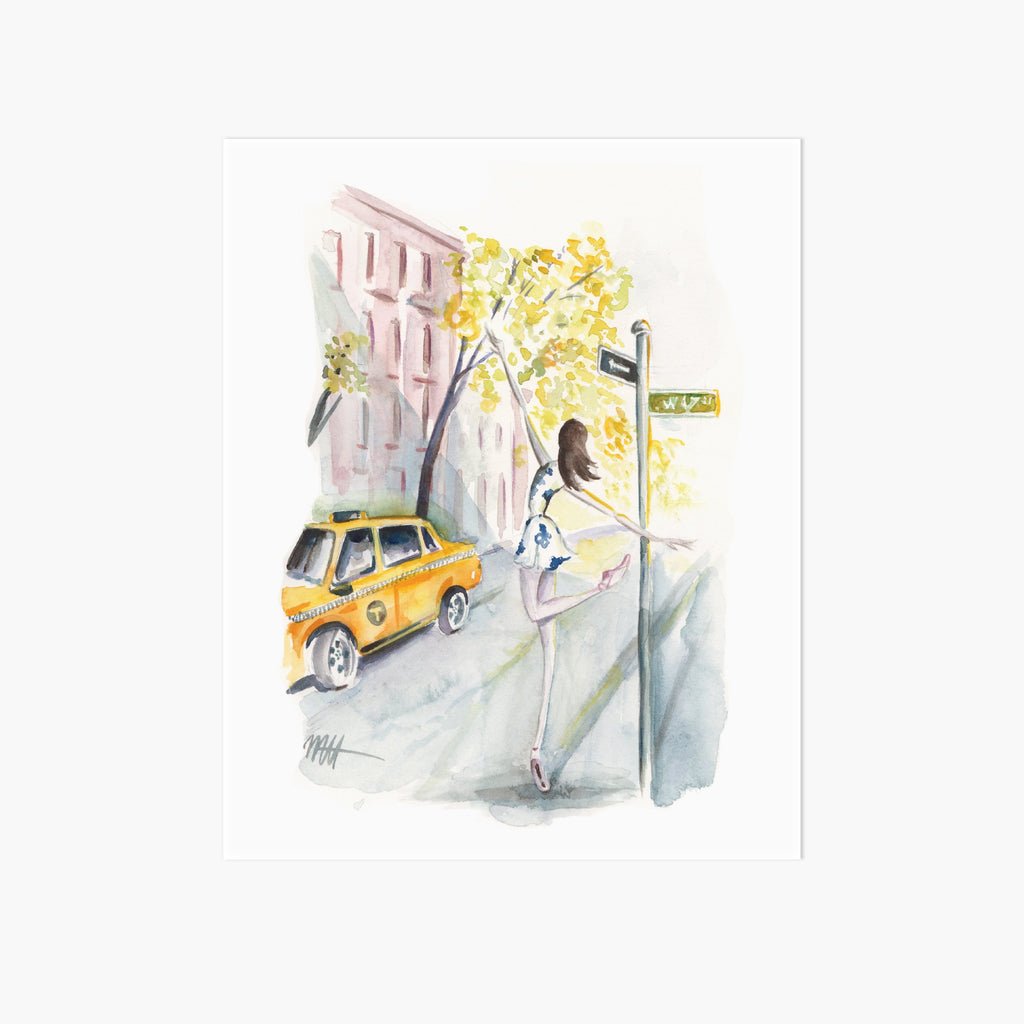 Taxi! Art Print - Pointebrush