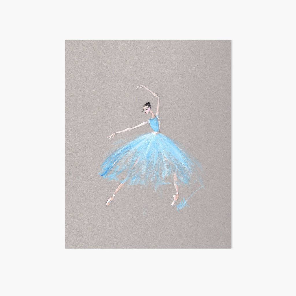 Waltz Girl Art Print - Pointebrush