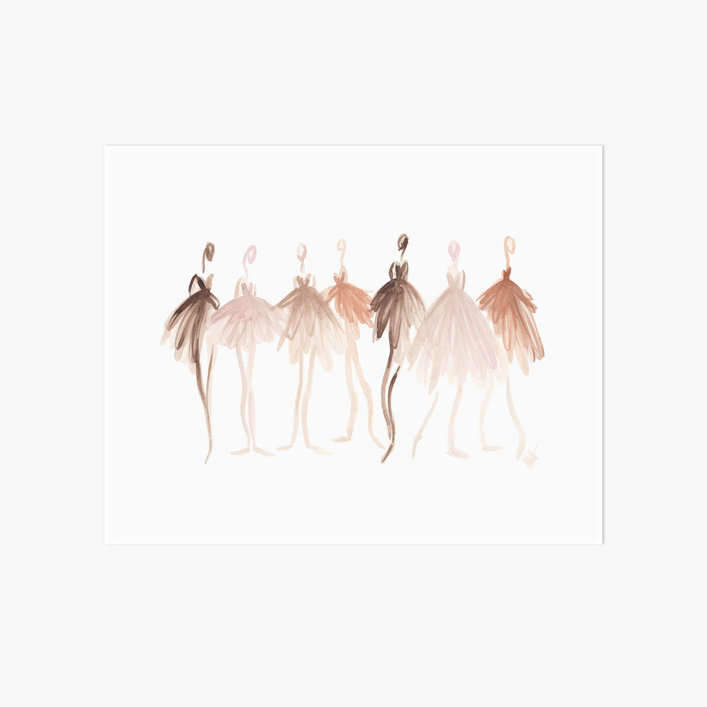 Colors of Ballet Art Print - Pointebrush