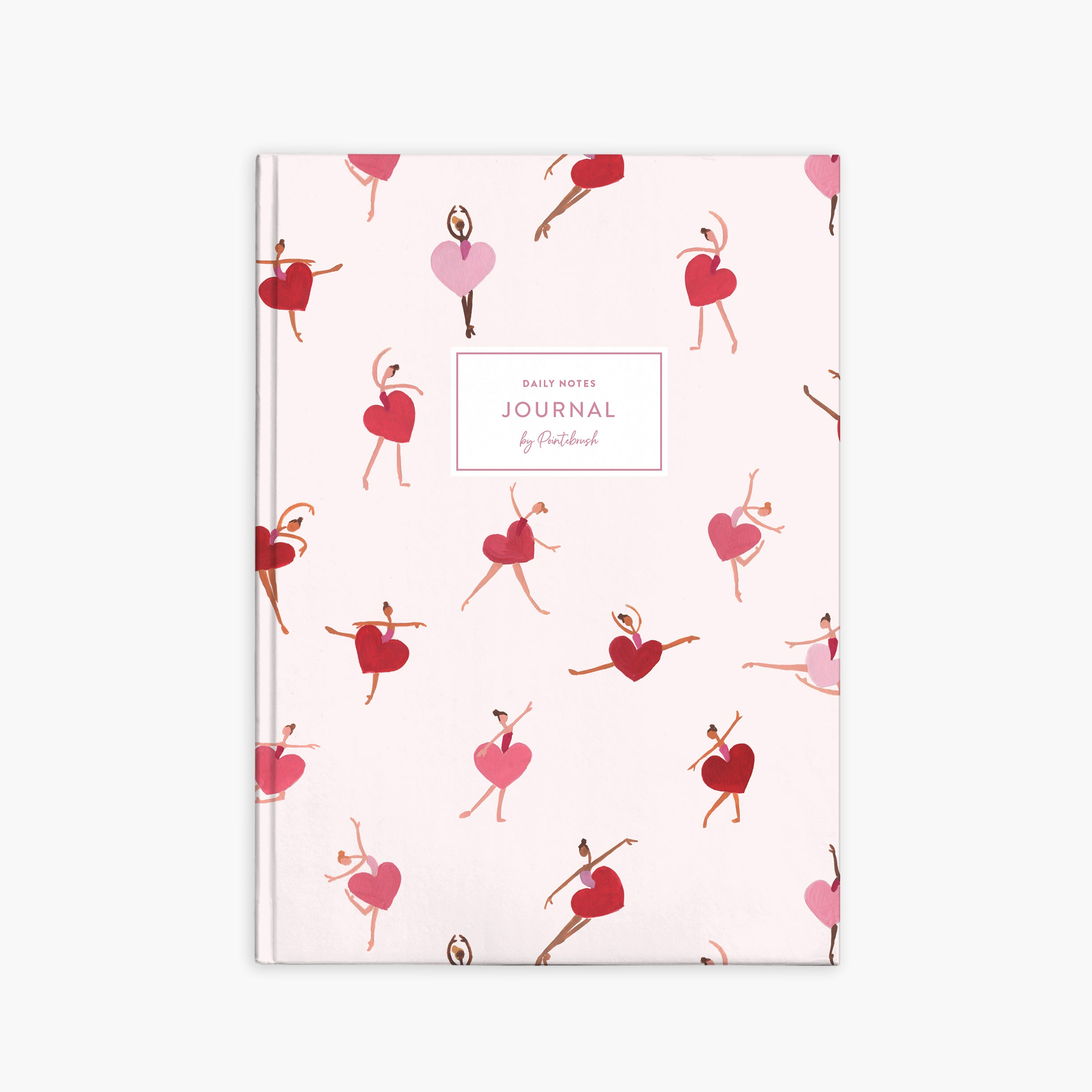 Valentine Dancers Notebook | Valentine| Pointebrush Ballet Art and Lifestyle