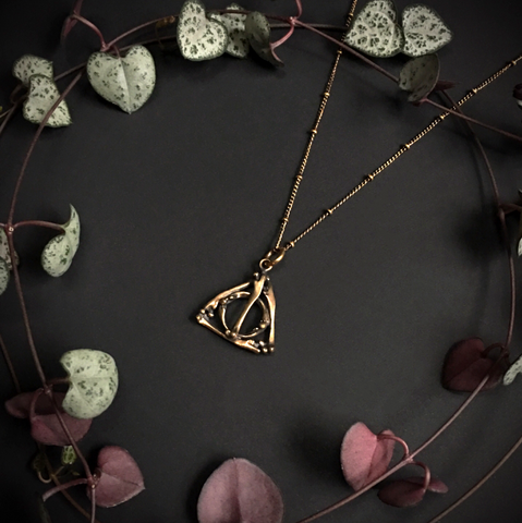 Deathly Hallows Small Pendant Bronze