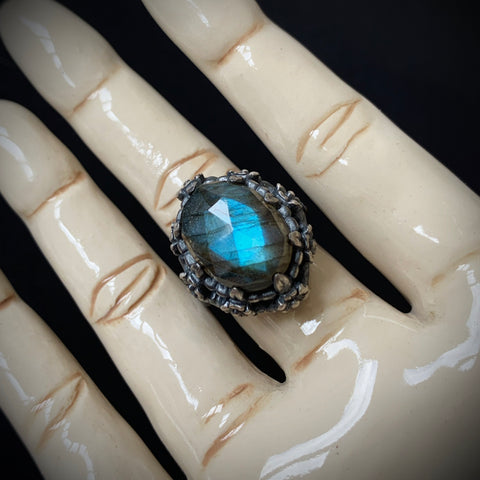 Poseidon's Garden Ring - Size 7 Ready to Ship