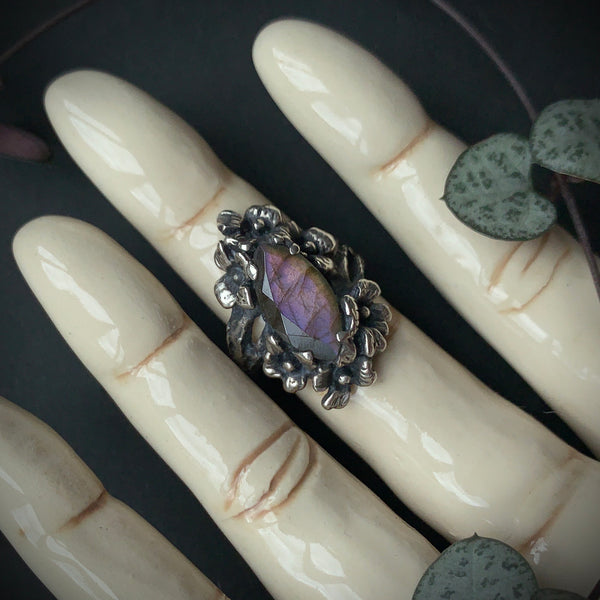 Nightshade Ring (Labradorite & Purple Labradorite version)