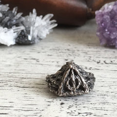 Deathly Hallows In to the Forest Ring - Size 10 - Ready to Send