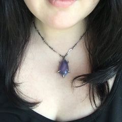 Formula 86 Necklace - OOAK Purple Chalcedony