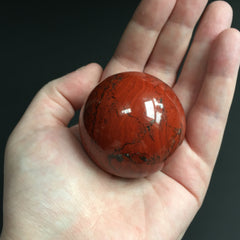 Snakeskin Jasper Ball with Wooden Stand