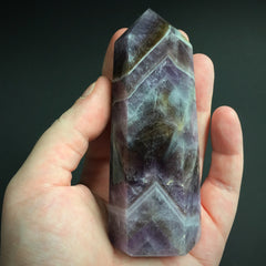Large Purple quartz Obelisk Point