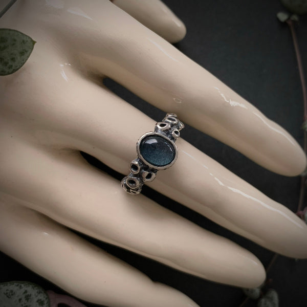 Atlantis Ring - Moss Aquamarine