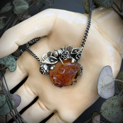 Harvest Necklace - Druzy Agate OOAK