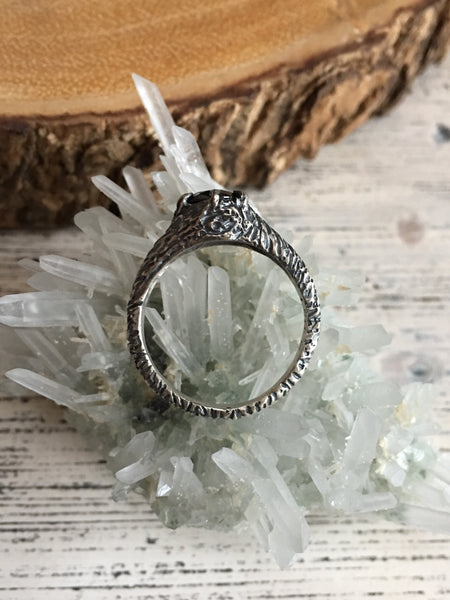 Forest Nymph Ring - (Moonstone, Labradorite, Moss Aquamarine and Black CZ versions)