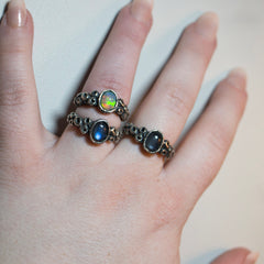 Atlantis ring - Size 7.5 - Labradorite - Ready to Send