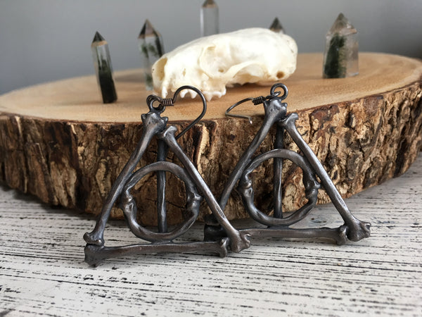 Deathly Hallows Large Bone Earrings