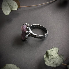 Grape Agate Ring IX OOAK - Size 8