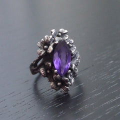 Nightshade Ring (Amethyst, Citrine and Onyx Versions)