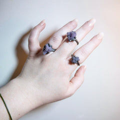Grape Agate Ring II, Size 6.25 OOAK