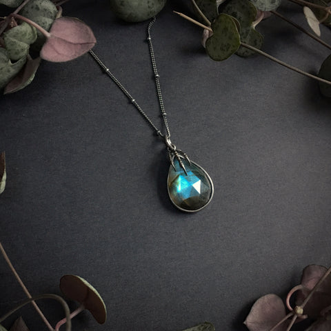 Eyrie Pendant - Labradorite - 20 inch - Ready to Send