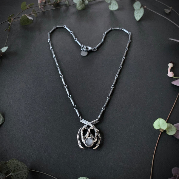 Dark Moon Necklace - 18 inches - Ready To Send