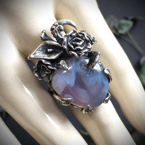 Secret Garden Ring OOAK - Size 7.5