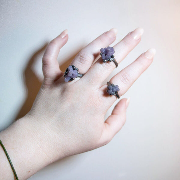 Grape Agate Ring III, Size 8 OOAK
