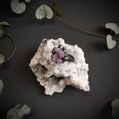 Grape Agate Ring X OOAK - Size 7