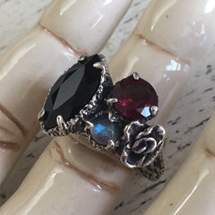 CLEARANCE - Floral Cluster Ring - Size 5.25 - OOAK