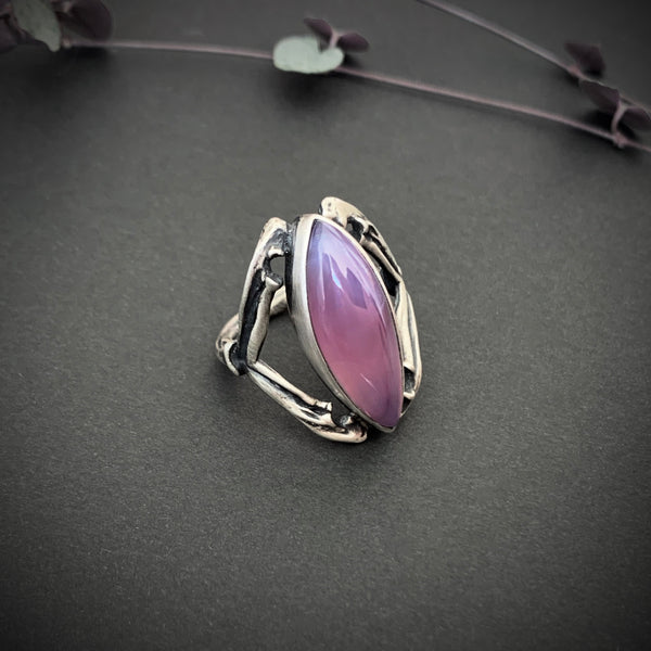 Grand High Witch Ring - 9.25 - Rare East Java Purple Chalcedony - OOAK