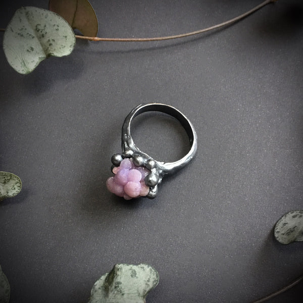 Grape Agate Ring V OOAK - Size 7.5