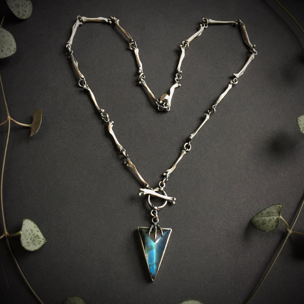 Hexen x Chain of Bones Necklace - Labradorite - 18 inches - Ready to Send